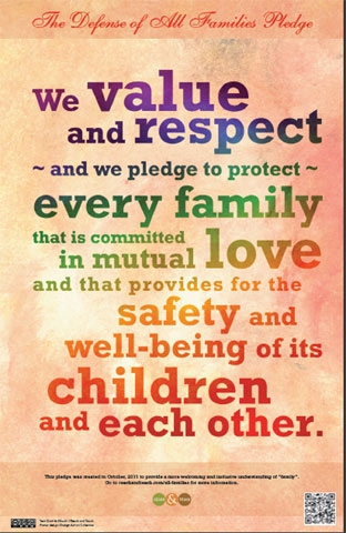 Defense of All Families Pledge Poster