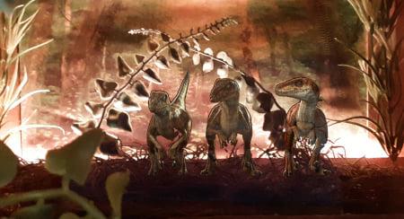 Raptors diorama