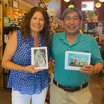 Jeanne Barrett and Derrick Kikuchi at Reach and Teach