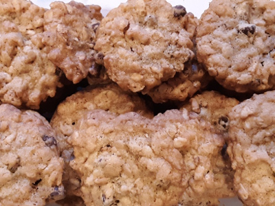 Reach and Teach's fair trade chocolate chip cookies (Yum!)