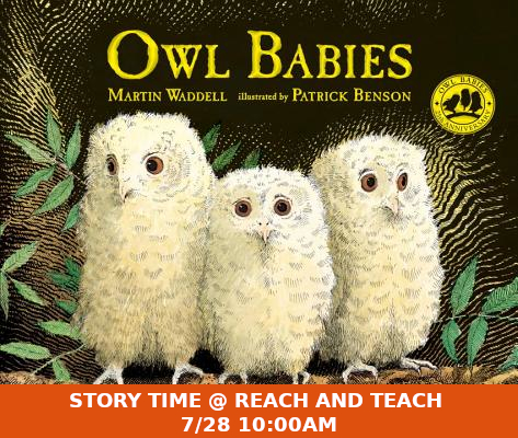 Story Time @ Reach and Teach 7/28 10:00 AM